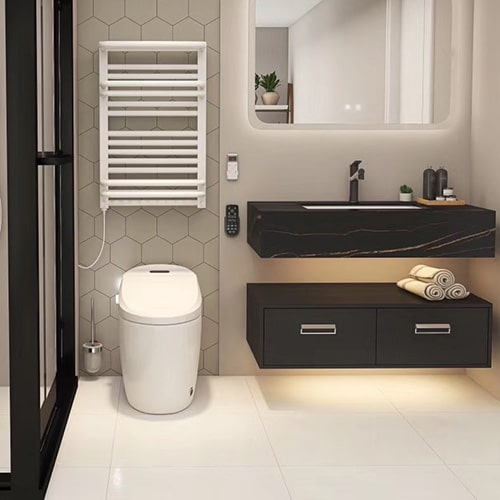 Toilet with Smart seat cover